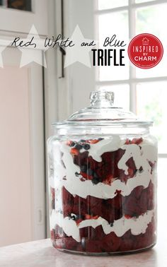 This Red White and Blue Trifle is so easy to make and a HUGE hit at parties!
