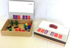 Any box with a  lid can be used to make these #Braille Code Boxes, the bigger the box the bigger the objects the child can have fun collecting!