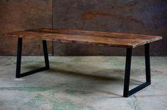Dwellers Furniture - Teak Metal Dining Table