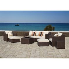 Matura Outdoor 9-piece Furniture Set | Overstock.com Shopping - Big Discounts on Sirio Sofas, Chairs & Sectionals