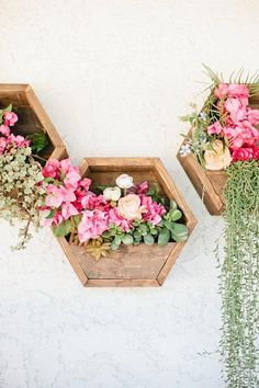 These hexagon planters are made of 100% HT pallet woods.They are safe for all your needs.They are a set of three. They measure 12 all around.They transform any space aesthetically. They can be ordered 4 or 6 wide(outside dimensions). They can be ordered unfinished or stained. If