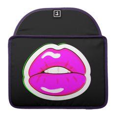 Kiss Me (Black) MacBook Pro Sleeve  #design #fashion #democraticfashion #fashionaccessories #bags #bagsandpurses #laptoplifestyle #MacBook #giftideas #zazzle #zazzlemade