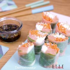 Rouleaux de printemps Make these delicious Spring rolls from ELLE at table at home Sushi Recipes, Asian Recipes, Cooking Recipes, Healthy Recipes, Good Food, Yummy Food, Tasty, Cold Finger Foods, Clean Eating Snacks