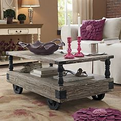 Industrial style, great price $189 - Coffee Table, Allentown from Through the Country Door®