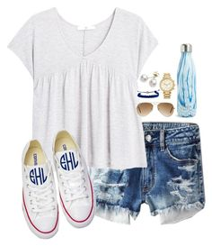 """90 degrees today"" by keileeen ❤ liked on Polyvore featuring American Eagle Outfitters, MANGO, Ray-Ban, MICHAEL Michael Kors, S'well, Converse, Mikimoto and Domo Beads"