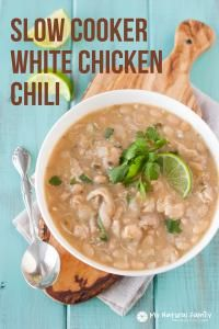 My Recipe Magic Recipe - Slow Cooker Clean Eating White Chicken Chili Recipe