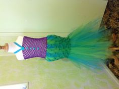 The Little Mermaid - Ariel. Two Girls Tutus and Scarves. Find us on Facebook. Will be opening an etsy store soon.