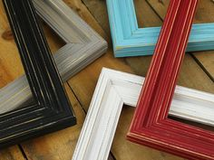 Rustic Wood Frame - Picture Frame Set - Rustic Picture Frame Set - Wood Picture Frame - Farmhouse Decor - Rustic Home Decor - Wall Hanging Minimalist Picture Frames, Rustic Picture Frames, Distressed Picture Frames, Picture Frame Sets, Picture On Wood, Distressed Wood, Framed American Flag, American Flag Wood, Rustic Wood