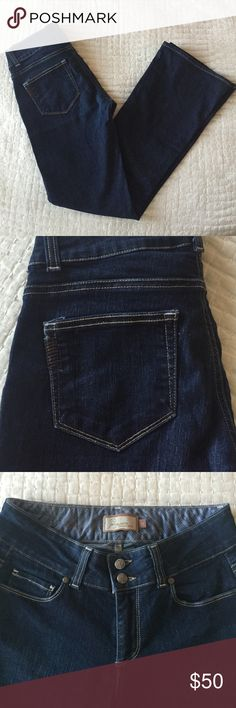 "Like new!! Paige boot cut denim, size 27. Dark Paige denim. Great condition! Boot cut style. 31"" inseam. Paige Jeans Jeans Boot Cut"