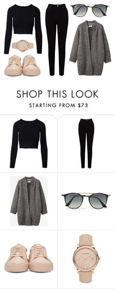 """""""Sin título #71"""" by worldofalicin on Polyvore featuring EAST, Toast, Ray-Ban, Jil Sander y Burberry"""