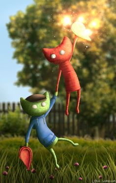 That's such adorable Jacksepticeye fan art! Unravel was an amazing game