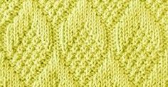 Nice stitch pattern. The Pine Cone stitch is knitted with simple knit and purl techniques. (Written instructions + Chart)