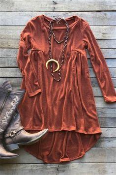 boutique clothing, Break My Heart Again Tunic Dress