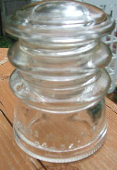 1914 Clear Hemingray Insulator Number 10 by Andie83 on Etsy, $7.50