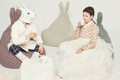 Alice's Adventures in Wonderland,아영한복 Korean Traditional Dress, Traditional Fashion, Traditional Dresses, Vogue Korea, Korean Dress, Korean Outfits, Korea Fashion, Japan Fashion, Fashion Images