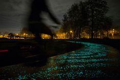 Solar Bike path - Van Gogh Roosegaarde glow in the dark - Eindhoven Netherlands