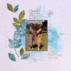 I love the simplicity of this layout one more memory captured & filed. Follow my easy step by step to create your own stamped simplicity layout Scrapbook Albums, Scrapbook Paper, Scrapbooking, Pattern Paper, Layouts, Create Your Own, Stamp, Memories, Activities