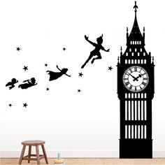 Peter Pan Big Ben Wall Decal - The Decal Guru