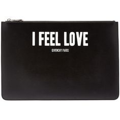 Givenchy  I Feel Love Large Pouch  Black