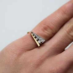Delta Pinky Ring by Paola van der Hulst