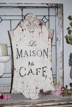 French cafe sign - coffee aroma ....