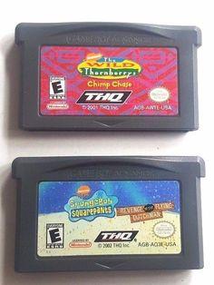 2 Gameboy Advance Games SPONGEBOB REVENGE  FLYING DUTCHMAN & THORNBERRY'S WILD