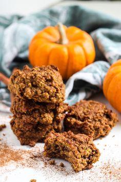Gluten-Free and Vegan Pumpkin Pecan Oat Cookies. No refined sugar, oil ...