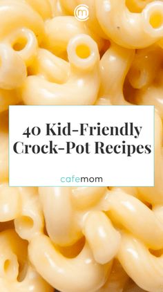 Kids Meals Check out these great kid-friendly Crock-Pot dinners moms can have ready and waiting when their kids are hungry. - Check out these great kid-friendly Crock-Pot dinners moms can have ready and waiting when their kids are hungry. Slow Cooker Desserts, Slow Cooker Recipes, Cooking Recipes, Healthy Recipes, Crockpot Recipes For Kids, Cooking Ideas, Freezer Recipes, Healthy Crock Pot Meals, Kid Friendly Crockpot Recipes
