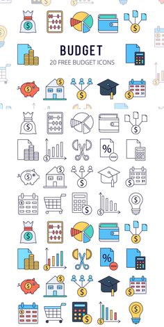 Icons Discover Free Budget Vector Icon Set Free Budget Vector Icon Set contains 20 high-quality icons on the subject of money finance and calculations. You can use for make a page on your website etc. Web Design Icon, Design Ios, Flat Design, Design Websites, Vector Icons, Vector Free, Money Sign, Earn Money, Sketch Notes