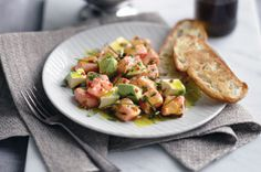 Creamy avocado is the perfect paring with the lime and chilli infused salmon in this gourmet ceviche.