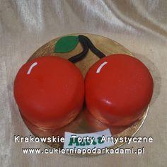 211.Tort przestrzenny wiśnie. 2D cherries cake.
