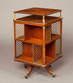 - A French Revolving Library Bookcase