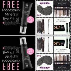 """This is a great little """"Eye Bundle"""" ☆Splurge Cream Eyeshadow ☆Addiction Eyeshadow Palette ☆Angled Shadow/Sponge brush ☆Precision Eyeliner ☆3D Fiber Mascara  This makes the total $134 which gets you the brand new Eye Primer FREE and FREE shipping!! You get to choose your colors!! www.lipstaingoddess.com"""