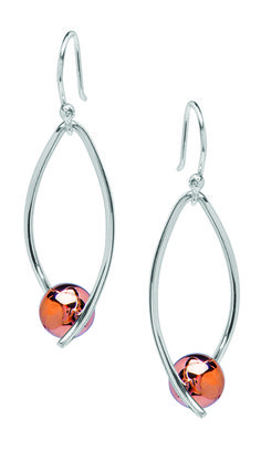 Tianguis Jackson Copper and Silver Ball Drop Earrings