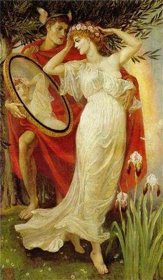Walter Crane ~ Apollo and Daphne, 1907 - http://mitosyleyendascr.com/mitologia-griega/grecia58/