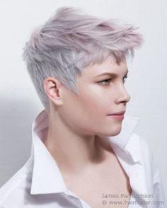 Super Short Hair Ideas on Pretty Ladies - Frisuren - Trend Frisuren - Haar Modell Short Pixie Haircuts, Pixie Hairstyles, Cool Hairstyles, Black Hairstyles, Hairstyles 2016, Hairstyle Ideas, Funky Haircuts, Frontal Hairstyles, Style Hairstyle