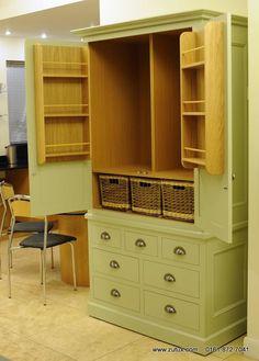J Elegance In Frame Two Door Painted Larder Cupboard wide) image Larder Cupboard, Pantry Ideas, Painted Doors, Craft Rooms, Kitchen Storage, Creative Design, Organize, Kitchens, Homes