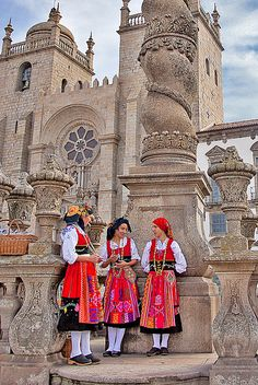 Colorful Traditional dress in Portugal
