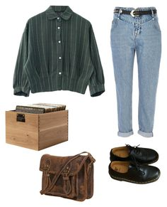"""""""Sara"""" by imveryconfused ❤ liked on Polyvore featuring River Island and Dr. Martens"""
