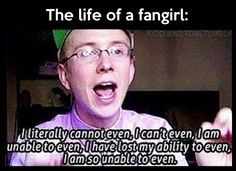 Life of a fangirl…me every time I see Al Pacino, James Roday, or Ryan Stiles.