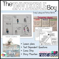 The Invisible Boy read-aloud pack is unique in that it holds on to the tradition of reading-aloud for pleasure, but also helps you meet core standards at the same time. We have included rigorous text dependent questions where students use evidence from the text to deepen their understanding of the story. We have also included a graphic organizer and writing in response to text activity to incorporate writing standards.