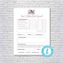 Hair Stylist & Makeup Artist Bridal or Event Agreement Contract Templa Makeup Artist Resume, Makeup Artist Tips, Document Sign, Online Print Shop, Online Printing, Stylists, Templates, Bridal, Studio
