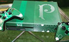 Microsoft mostra edição limitada do Xbox One inspirado no Palmeiras