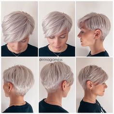 Short hair models changes according to shape of our face. Especially looks good on women with round and oval face structures. Undercut Hairstyles Women, Diy Hairstyles, Brown Hairstyles, Hairstyles 2018, School Hairstyles, Short Hair Cuts For Women, Short Hair Styles, Blonde Pixie Cuts, Best Pixie Cuts
