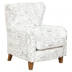 Chanel Occasional Chair Fabric French White