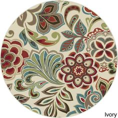 Decora Transitional Area Rug (5'3 Round) | Overstock™ Shopping - Great Deals on Round/Oval/Square