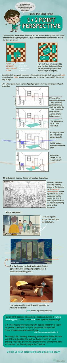 1 + 2 Point Perspective by betsyillustration on DeviantArt