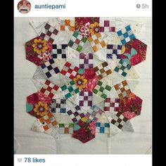 Look what Aunti Pami is doing.. #ringcycles looking good. #2Sew #QuiltPattern