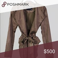 ✨Coming Soon!✨ The Nexus Belted Suede Blazer This jacket needs no introduction. A sleek belted blazer style, this will be your go to spring jacket. The material is a luxe soft vegan suede in a stunning olive tone. Lightweight and versatile, it is the epitome of effortless chic. Throw this on over a t shirt and you'll automatically look like somebody important. You do not want to miss out on this one!  If you would like to be notified when it's available, let me know!  *Not listed brand, used…