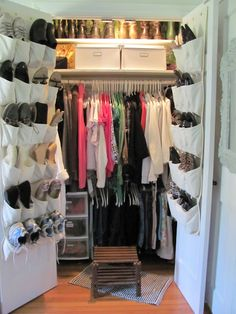 Normally I Hate Those Shoe Pocket Thingies But On French Door Closets Works Well